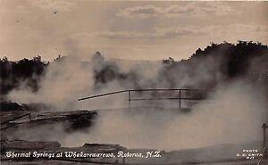 New Zealand real photo postcard Therma Springs at Whakarewarewa Rotorua