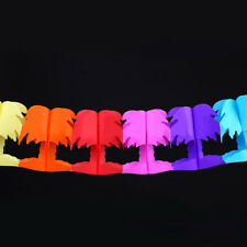 Hawaii tropical palm color decoration party paper garlands