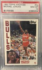 Michael Jordan 1992-93 Topps Archives #52 PSA 10 GEM MT CHICAGO BULLS
