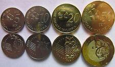 Malaysia set of 4 coins 2012 (5+10+20+50 sen) UNC