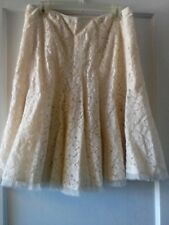 Gianni Bini Womens Lace Fit & Flare Ivory Skirt Size 8