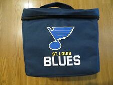 NEW ST. LOUIS BLUES NHL OFFICIAL LICENSED SOFT SIDED INSULATED COOLER LUNCH TOTE