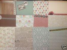 "6"" x 6"" 12 sheet CURIOSITY CORNER taster pack card making scrapbook craft paper"