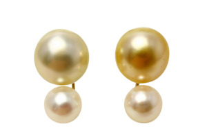 Akoya and South Sea Pearl Earrings 7-10mmUP Multi color 18K
