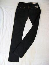 Replay Damen Jeans Double Black Denim W25/L34 low waist regular fit straight leg