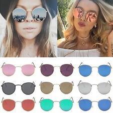 Fashion Women Aviator Mirror Lens Steampunk Sunglasses Glasses Vintage Retro