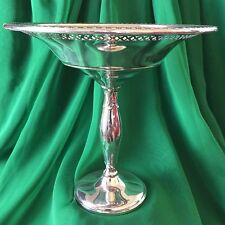 Vintage Hamilton Reticulated Tall Compote Dish Sterling Silver Weighted 201 grs