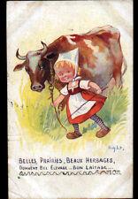 ELEVAGE de VACHE LAITIERE & FILLETTE en 1923 ... illustrée par RIGHT