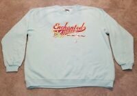 Disney Store Tinkerbell Enchanted State Blue Sweatshirt Ladies XXL NWT