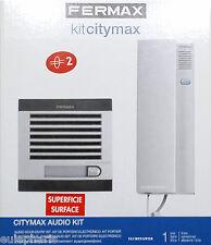 KIT FERMAX a 2 HILOS CITYMAX 1102 Portero Automatico electronico de superficie