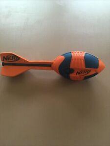 Nerf Aero Howler Vortex Football blue and Orange Whistler 2012 Hasbro Arrow Tail