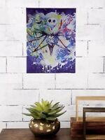 The Nightmare Before Christmas Metallic Paint Splatter Canvas Wall Art NIP!