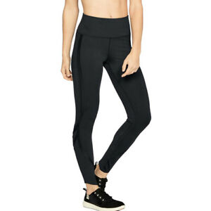 Under Armour UA HeatGear Black Breathelux Ladies Fitted Running Leggings