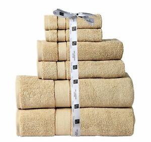 6 Pc Luxury Towel Set 100% Premium Cotton Towels - TAUPE