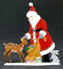 """ARTIST WILHELM SCHWEIZER GERMAN ZINNFIGUREN - Santa with Bambi (3.5""""x 4"""")"""