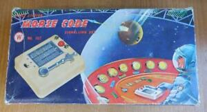 Fine 1950-60s Classic HONG KONG Toy Space Station Morse Code Signaling Set Boxed