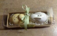 Hallmark Bunny Rabbit & Chick Salt and Pepper Shakers Yellow & White Nib