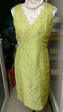 STUNNING KALIKO OLIVE GREEN DRESS SIZE 10/12 IDEAL MOTHER OF THE BRIDE NEW