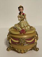 "Rare Disney Park Exclusive Beauty & Beast ""Belle"" Trinket Box Disney Princess"