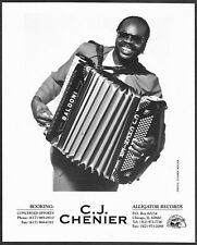 ~ Zydeco C.J. Chenier 1980s Original Promo Portrait Photo Accordian