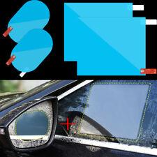 4x Car Rearview Mirror + Door window Anti Water Mist Film Rainproof Oval Film