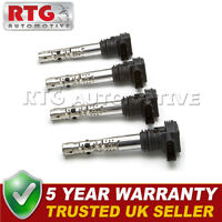 4x Pencil Ignition Coil Packs Fits Audi Seat Skoda VW 1.8 T 2.0 2.7