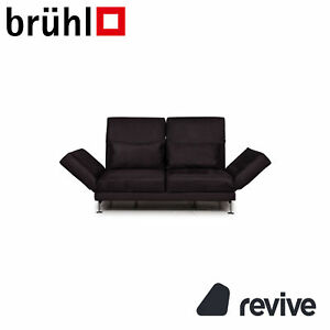 Brühl & Sippold Moule Stoff Sofa Grau Zweisitzer Funktion Relaxfunktion #14452