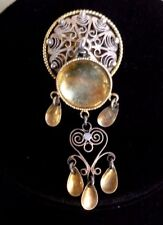 Silver Solje Pin Brooch Norwegian Jewelry Scarce Collectable Antique C.1900