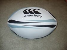 Canterbury Rugby Practice Ball Size 5 White Black and Grey