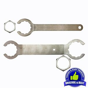 Conduit Lock Nut Spanner - Armoured Cable Lock Nut Wrench Set for Electricians.