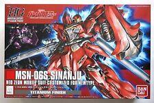 BANDAI Gundam Unicorn HGUC 1/144 MSN-06S Sinanju titanium finish scale model kit