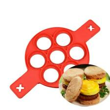 Pancake Maker Molds 7/4 Holes Fried Egg Ring Nonstick Silicone Kitchen Tools