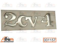 MONOGRAMME CHROME NEUF pour coffre / malle de Citroen 2CV4  -1157-