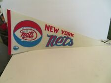 1970's New York Nets ABA Basketball Pennant 30 inch