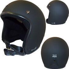 BORES Jethelm BOGO 3 III Oldschool Motorrad Helm Doppel-D schwarz matt L 55/57