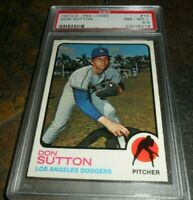 1973 O-PEE CHEE OPC #10 DON SUTTON LOS ANGELES DODGERS NM MINT + PSA 8.5