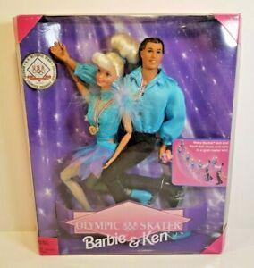 1997 OLYMPIC SKATER BARBIE & KEN DOLL GIFT SET MATTEL #18726  USA LIPINSKI CB13
