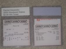 2009 Woodward Stakes Program and $2.00 Win & Results Ticket--Rachel Alexandra