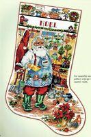 🎄 GARDEN SANTA Gardening Christmas Stocking Cross Stitch Chart Linda Gillum