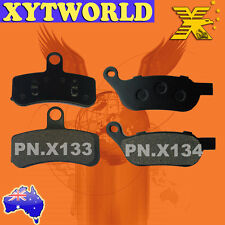 FRONT+REAR Brake Pads HARLEY DAVIDSON FLSTF Fat Boy 2008-10 2011 2012 2013 2014