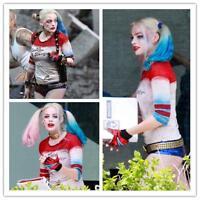 HOT Halloween Harley Quinn Suicide Squad Jacket Coat Shirt Shorts Costume