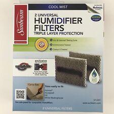 Sunbeam (2) Universal Humidifier Filters Cool Mist SFU001 Brand New In Box