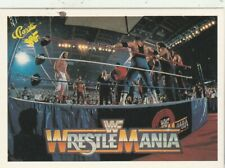 FREE SHIPPING-MINT-1990 Classic  Wrestlemania WWF #7 Battle Royal +BONUS CARDS