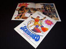SKATEBOARD Planche à roulettes  rare le scenario dossier presse cinema 1977