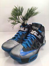 Nike Lebron Zoom Solider VI Basketball Silver Blue 525015-011 Size 13