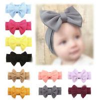 Fashion Baby Kid Girl Headband Hair Band Knot Bow Headwear Elastic Cloth Gift
