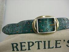 Original Reptile's House Gürtel mit Schliesse Sattelleder reiche Deco neu R-013