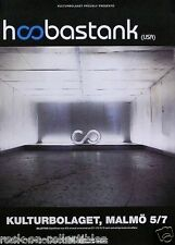 Hoobastank 2001 Self Titled Original Swedish Concert Promo Poster