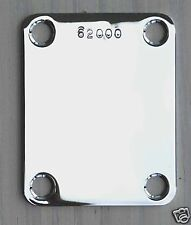 PLAQUE Fixation MANCHE NECK PLATE SERIAL NUMBER Strat Tele P-J-Bass CHROM NP03C2