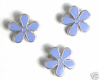3 X MASONIC FLOWER FORGET ME NOT ENAMEL LAPEL PIN BADGE